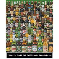 Pyramid Life Is Full Of Difficult Decisions Beer Bottles Poster 40x50cm
