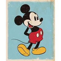 Pyramid Mickey Mouse Retro Poster 40x50cm