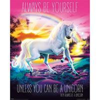 Pyramid Unicorn Always Be Yourself Poster 40x50cm