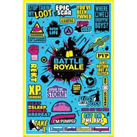 Pyramid Battle Royale Infographic Poster 61x91,5cm