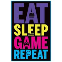 Pyramid Eat Sleep Game Repeat Gaming Poster 61x91,5cm