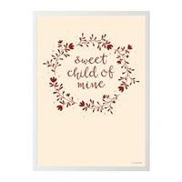 Merkloos A Little Lovely Company Poster Junior 50 X 70 Cm Papier Beige/rood