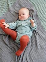VERTBAUDET Fluwelen baby overall met print medium groen aop - 15-4706 tcx