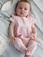 VERTBAUDET Babypakje voor meisjes met borduursels roze