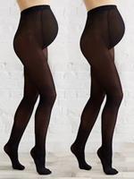 VERTBAUDET Set van 2 ondoorzichtige zwangerschapspanty's set zwart