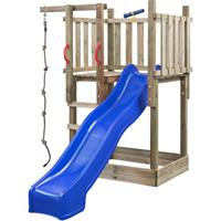 SwingKing Speeltoren Mario met klimtouw en glijbaan blauw
