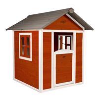 AXI Speelhuis Lodge Scandinavisch Rood/Wit hout 135x111x133 cm - 3 jaar garantie!