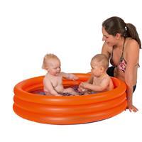 Oranje opblaasbaar zwembad 122 x 23 cm speelgoed - Opblaaszwembaden