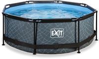 EXIT Stone zwembad - 244 x 76 cm - met filterpomp