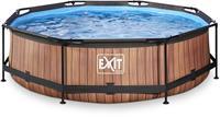 EXIT Wood zwembad - 300 x 76 cm - met filterpomp