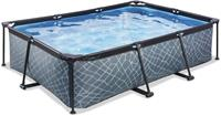 EXIT Stone zwembad - 220 x 150 x 65 cm - met filterpomp