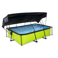 EXIT Lime opzetzwembad met schaduwdoek en filterpomp groen 300x200x65cm