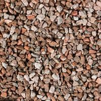 Gardenlux 35 stuks! Graniet split rd/grijs 8/16 mm 20 kg
