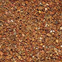 Gardenlux 35 stuks! Grauwacke split bruin/rd 8/16 mm 20 kg