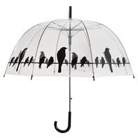 Esschertdesign Paraplu transparant vogels op draad