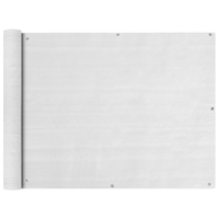 VidaXL Balkonscherm HDPE 90x400 cm wit