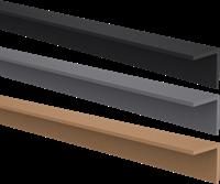 CarpGarant Hoekprofiel composiet zwart 4 x 4 x 300 cm