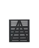 DK Plus Tuindeur vuren Silence louvre recht zwart (100 x 110 cm)
