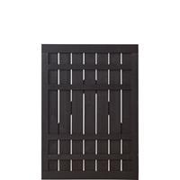 DK Plus Tuindeur vuren Rustik recht zwart (100 x 138 cm) ruw