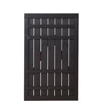 DK Plus Tuindeur vuren Rustik recht zwart (100 x 158 cm) ruw