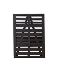 DK Plus Tuindeur vuren Silence louvre recht zwart (100 x 140 cm)