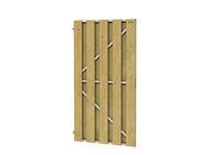 Woodvision Deurframe met planken verticaal 100 x180 cm Uitgefreesd slotgat