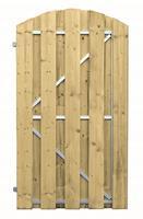 CarpGarant Vuren frame deur 180x100 cm toog verticaal linksdraaiend