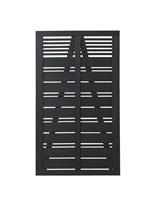 DK Plus Tuindeur vuren Silence louvre recht zwart (100 x 170 cm)