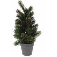 Mini kerstboom met gouden glitters 40 cm