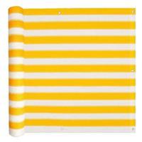 VidaXL Balkonscherm HDPE 75x400 cm geel en wit