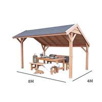 Buitengewoondeboet Kapschuur Landleven 800 x 400 cm incl dakbedekking