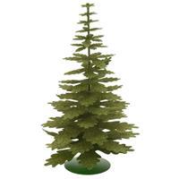 Groen glitter kerstboompje decoratie 35 cm