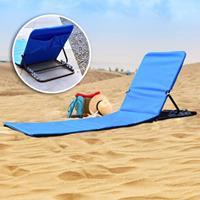 HI Strandmat stoel opvouwbaar PVC blauw