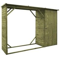 VidaXL Tuinschuur 253x80x170 cm grenenhout
