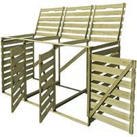 VidaXL Containerberging driedubbel 240 L FSC geïmpregneerd hout