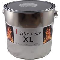 Tuinfakkel vuur verlichting in blik 16,5 x 15 cm 6-12 branduren Zilver