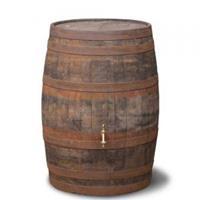 waterton.nl Hergebruikte houten regenton geborsteld 195 liter
