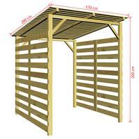 VidaXL Tuinschuur FSC geïmpregneerd grenenhout