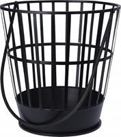 BBQ vuurkorf met hengsel Ø38 cm zwart