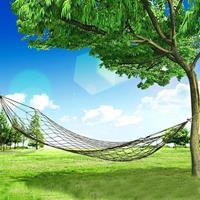 Portable Camping Outdoor Mesh Nylon hangmat - Army Green