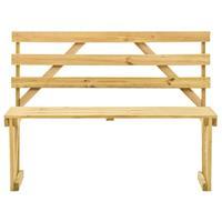 vidaXL Tuinbank 120 cm geïmpregneerd grenenhout