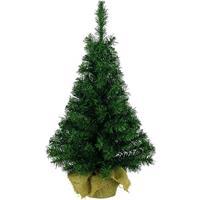 Snowflake Kerstboom In Jute Zak 60cm Groen