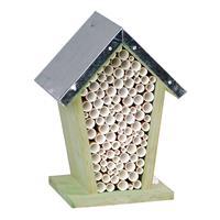 Houten Bijenhuis/bijenhotel 22 Cm - Hotel/huisje Voor Insecten - Wespenhuis/wespenhotel