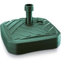 1x Stuks Vierkante Kunststof Parasolvoeten Groen 12 Liter - Breedte 39 Cm
