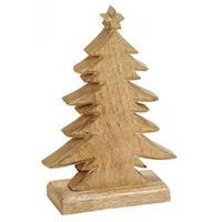 Kerstdecoratie Houten Kerstbomen / Kerstboompjes 20 Cm - Vensterbank Kerstdecoratie Houten Kerstbomen