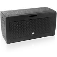 Deuba Matuba-opbergbox/kussenbox antraciet 119x48x60cm met wielen