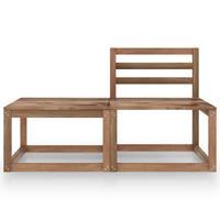 vidaXL 2-delige Loungeset bruin geïmpregneerd grenenhout