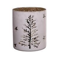 PTMD Talisa White glass stormlight round tree pattern S