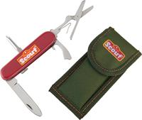 Happy people zakmes Scout junior staal rood/zilver 2-delig