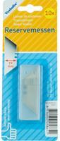 Verlofix reservemes voor uitschuifmes 19 mm RVS zilver 10 stuks